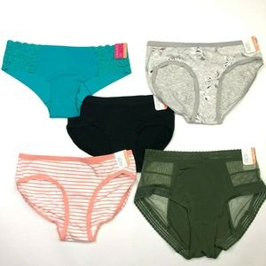 FIVE NWT Womens Panties XS 0-2 O'Malley (I265)